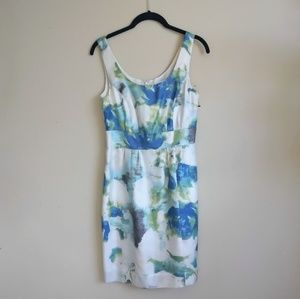 NWT Banana Republic White Floral Spring Dress 0P